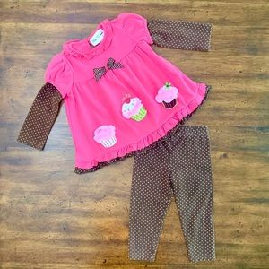 Rare Editions 2pc Top and Legging Set GUC